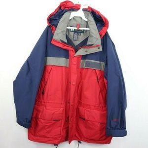 Vintage Eddie Bauer Goretex Rain Parka Jacket Red